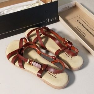 New Brown Bass Sandals 8.5